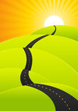 Summer Travel - Long Road Journey Royalty Free Stock Photos