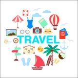 Summer travel Marine holidays icon set vector illustration Stock Image