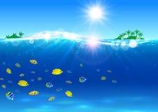 Summer travel. Paradise island banner Royalty Free Stock Photography