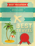 Summer Travel Poster Design Royalty Free Stock Image