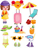 Summer travel set Royalty Free Stock Images