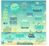 Summer and Travel set - labels and emblems. Royalty Free Stock Image