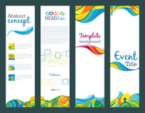Summer travel - set of vertical banners Stock Photo