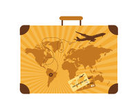 Summer travel, suitcase. Vector illustration Royalty Free Stock Photo