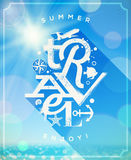 Summer travel type design Stock Photo