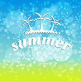 Summer travel typographic design Stock Photos