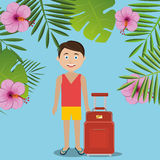 Summer, travel and vacation Stock Photography