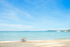 Summer, Travel, Vacation and Holiday concept - Man resting on be Royalty Free Stock Photography