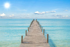 Summer, Travel, Vacation and Holiday concept - Wooden pier in Ph Royalty Free Stock Photography
