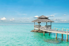 Summer, Travel, Vacation and Holiday concept - Wooden pier in Ph Stock Photos