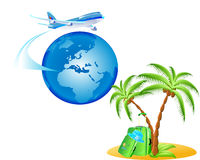Summer and Travel Background. Summer and Travel  Vector Background Stock Images