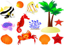 Summer Travel Vector Collection Stock Image