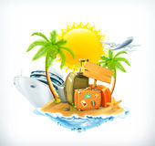Summer travel vector icon Royalty Free Stock Photography