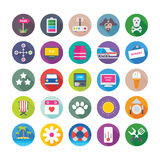 Summer and Travel Vector Icons 8 Royalty Free Stock Photos
