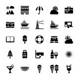 Summer and Travel Vector Icons 5 Royalty Free Stock Photo