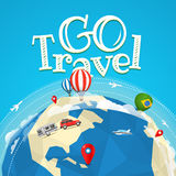 Summer travel vector illustration. Go travel Stock Photos