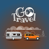 Summer travel vector illustration. Go travel Royalty Free Stock Image