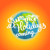 Summer travel vector illustration Royalty Free Stock Images