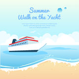 Summer travel on yacht illustration Royalty Free Stock Photos