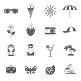 Summer and traveling icons set Stock Photos