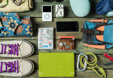 Summer traveling stuff Stock Images