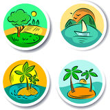 Traveling tags Royalty Free Stock Image