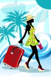 Summer traveling woman Royalty Free Stock Photo