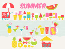 Summer treat design elements Royalty Free Stock Image