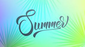 Summer. Trendy tropical background of holographic colors. Summer banner for promotion, sale, party events vector illustration
