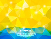 Summer triangle background for your text Stock Images