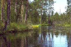 River in Russia. Summer trip on the rivers of Karelia Stock Images