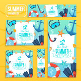 Summer tropic vacation backgrounds design Stock Photography