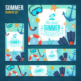 Summer tropic vacation backgrounds design Stock Photo