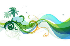 Summer tropical background Stock Images