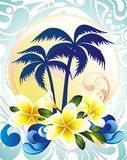 Summer tropical background Royalty Free Stock Photo