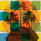 Summer tropical background Royalty Free Stock Photos