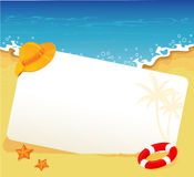 Summer tropical banner Stock Image