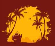 Summer tropical banner Stock Photos