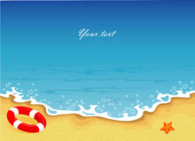 Summer tropical banner Royalty Free Stock Photo