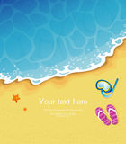 Summer tropical banner Stock Images