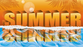 Summer tropical banner Royalty Free Stock Photography
