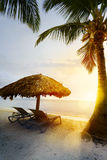 Summer tropical Beach; Peaceful vacation background Royalty Free Stock Photos