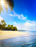 Summer tropical Beach; Peaceful vacation background Royalty Free Stock Images