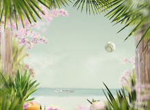 Summer. Tropical Beach in Sunlight Royalty Free Stock Image