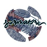 Summer tropical card. vector illustration