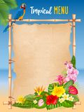 Summer tropical frame design Royalty Free Stock Images