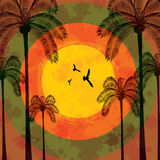 Summer tropical holiday background. Palm Stock Photography