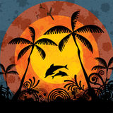 Summer tropical holiday background Stock Images