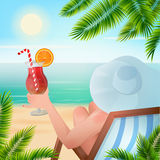 Summer Tropical Holiday Background Royalty Free Stock Image