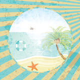 Summer tropical holiday retro background Stock Image